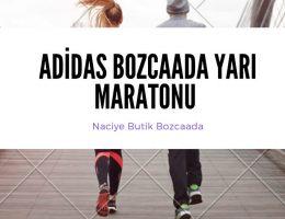 Adidas Bozcaada Yarı Maratonu Koşan Erkek ve Kadın Resimi